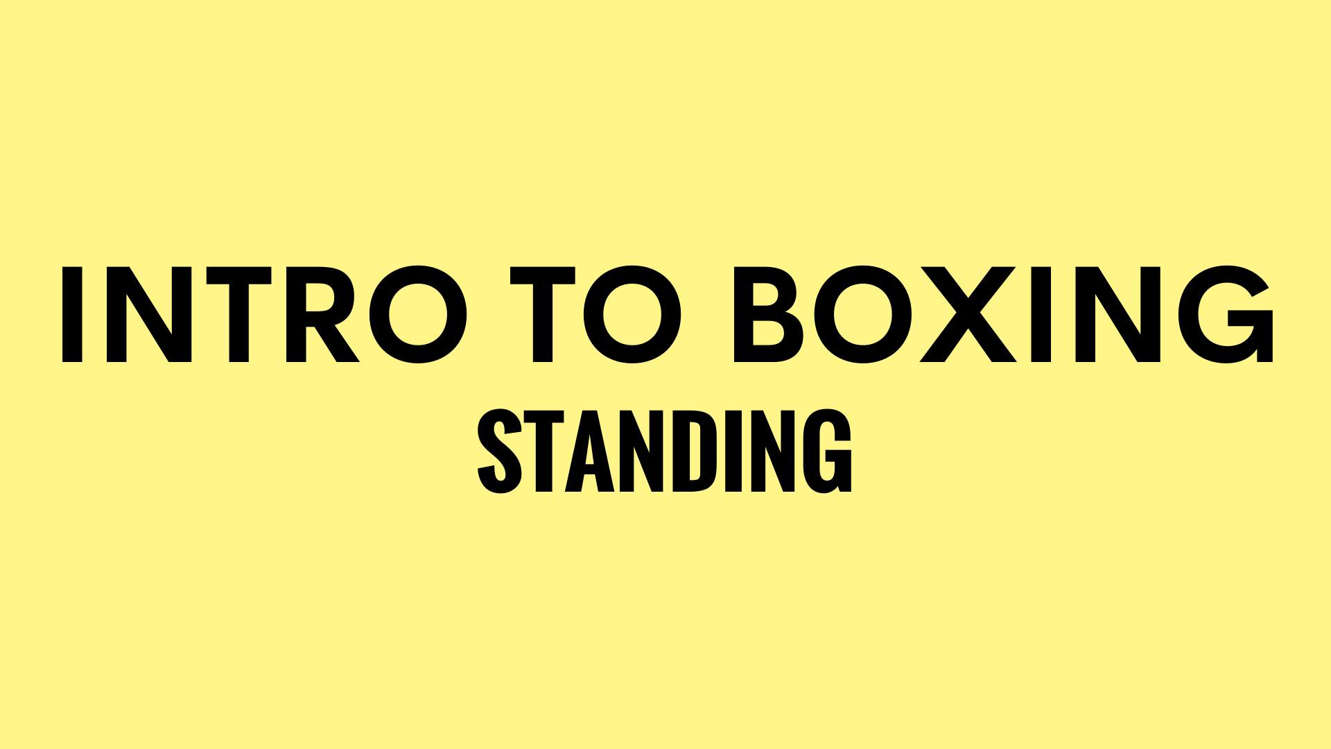 INTRO TO BOXING STANDING